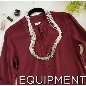 EQUIPMENT FEMME silk popover tunic blouse